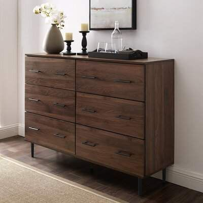 Langley Street Marc Reclaimed 6 Drawer Double Dresser Langley Street Double Dresser Furniture Dresser