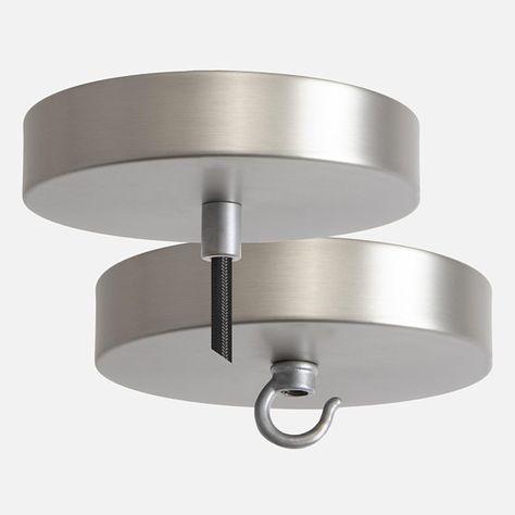 Nickel Ceiling Canopy Pendant Light Kit Chandelier Canopy