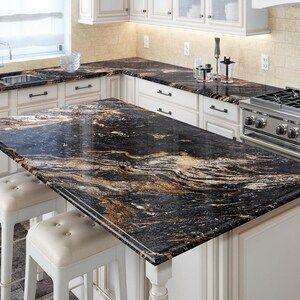 Allen Roth Galactic Storm Granite Kitchen Countertop Sample At