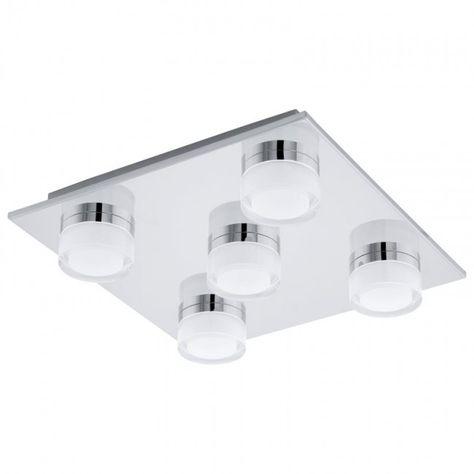 EGLO ROMENDO LED Deckenleuchte, Badezimmer, IP44, chrom | Badezimmer ...