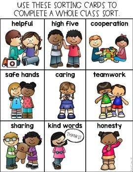 KindnessRules: Kindness Sort   CD   Preschool friendship
