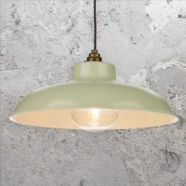 Green Cream Industrial Pendant Light Cl 34372 Pendant Light