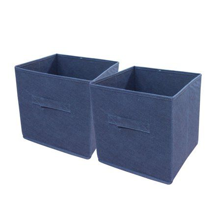 Mainstays Storage Bin Walmart Com Fabric Storage Cubes Storage Bin Cube Storage