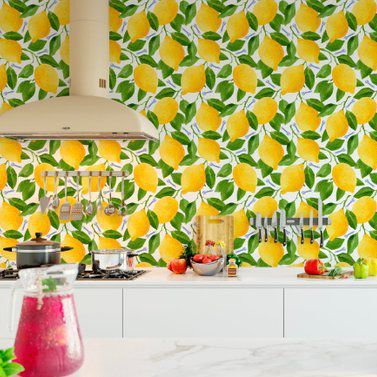 11 Insanely Fun Ways To Wallpaper Your Kitchen Kitchen Wallpaper Tiles Modern Kitchen Wallpaper Wall Art Diy Bedroom