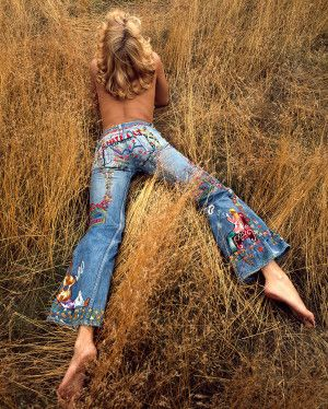 Image result for peace sign embroidery on jeans