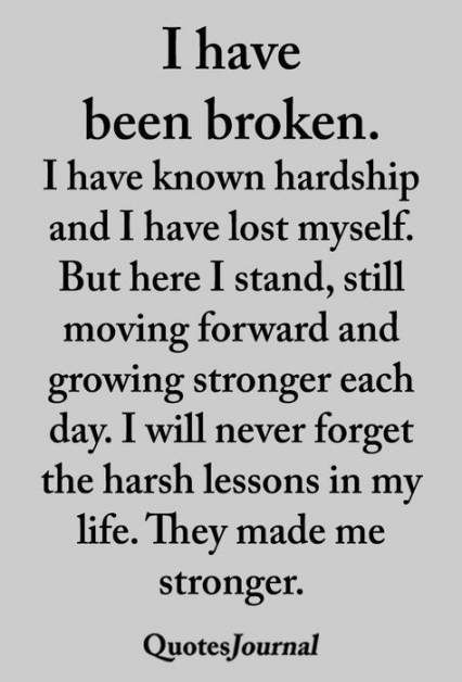 Thanks for they harsh lessons