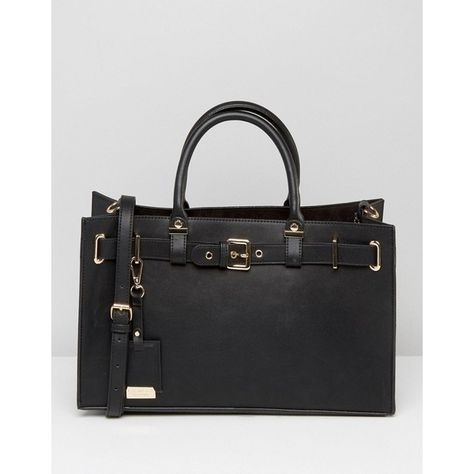 Carvela Tote Bag With Gold Hardwear (£58) ❤ liked on Polyvore featuring bags, handbags, tote bags, black, tote hand bags, gold purse, gold tote bag, handbags tote bags and gold handbags