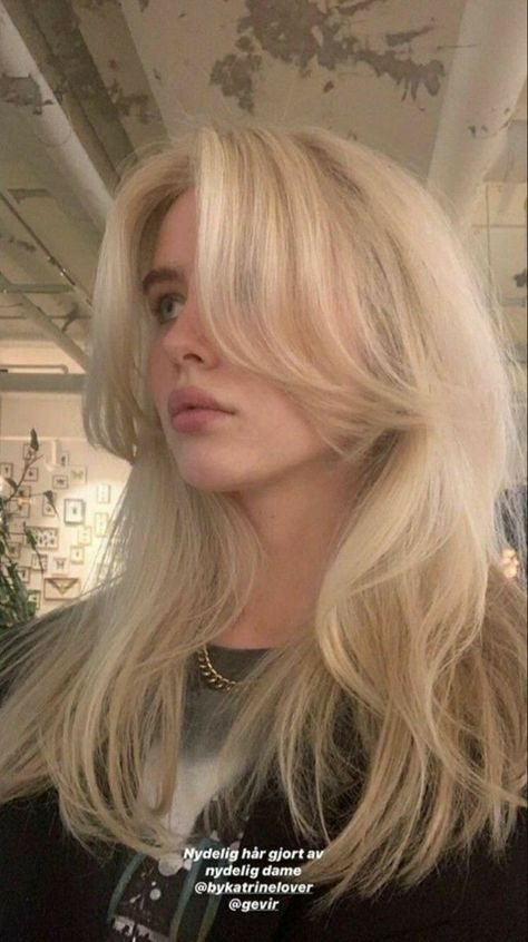 Blonde Hair Looks, Brown Blonde Hair, Girls With Blonde Hair, Blonde Hair Bangs, Hair Streaks, Hair Highlights, Cut My Hair, Hair Cuts, Aesthetic Hair