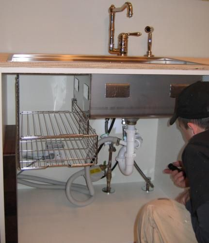 kohler stages sink install; enough room for trash pullout on the ...