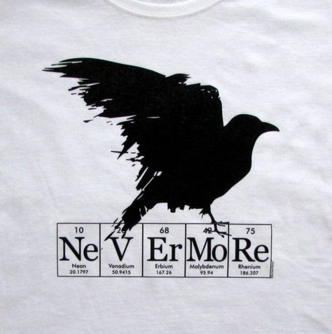 Raven Nevermore ElementeesTM tee shirt for the nerd by elementees, $15.95