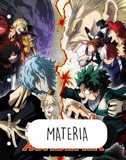 4unico Catalogo Caratulas Escolares Personalizadas In 2021 My Hero Academia Episodes Anime My Hero Academia