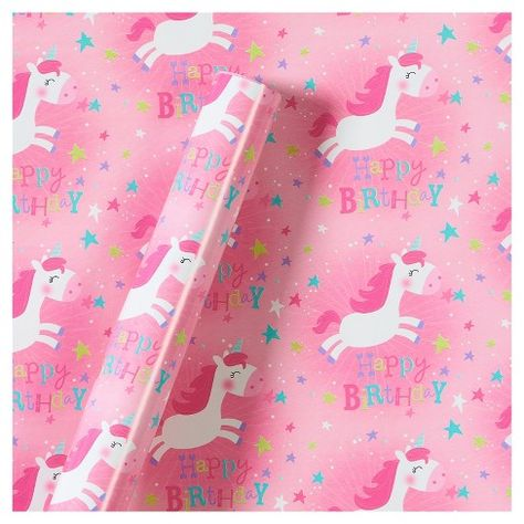 Unicorn Gift Wrap Roll Unicorns Birthday