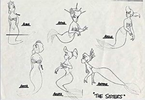 Ariel S Sisters Coloring Pages Animation Sketches Disney Drawings Disney Sketches