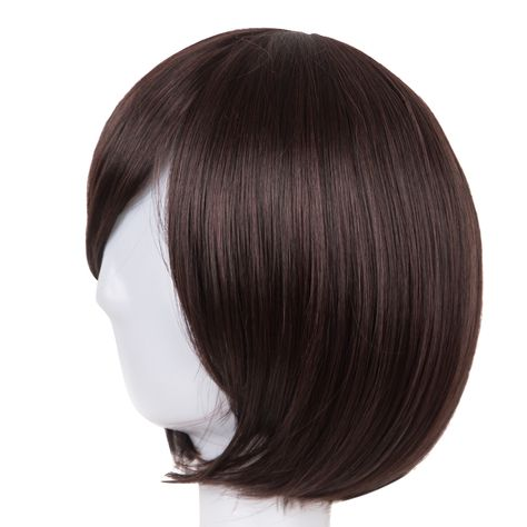 Synthetic None-lacewigs Hair Extensions & Wigs Cosplay Wig Fei-show Synthetic Heat Resistant Fiber Wavy Sky Blue Inclined Bangs Hair Student Hairpiece Short Salon Party Peruca