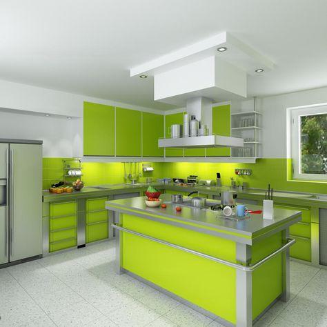 Kitchen Set Hpl Wanra Hijau Dapur Modern Dapur Desain Dapur