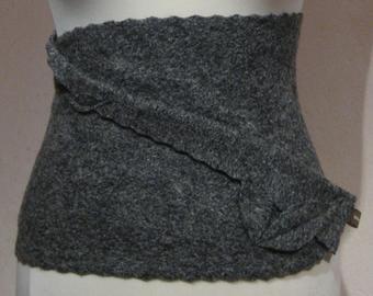 wool clothing hip flatterer gift anthracite cacheur wool skirt stole kidney warmer felt skirt Kidney warmer