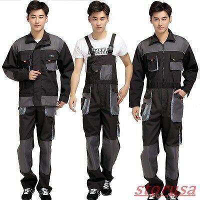 Mens Womens Overalls Bib Suspenders Pants Coveralls Mechanic Jumpsuits Workwear