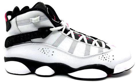 lowest price 2e070 5d3c6 eBay  Sponsored Nike Jordan 6 Rings GG Girls Sneaker Platinum Pink-Black  323399-009 Size 9.5