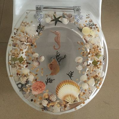 Daniels Bath Sea Treasure Elongated Toilet Seat Color:
