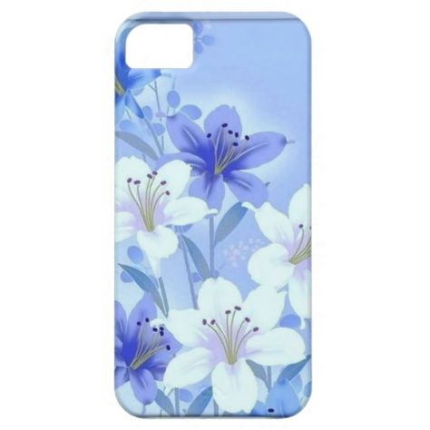 Vintage Blue Floral iphone case 5 - 5s iPhone 5/5S Case