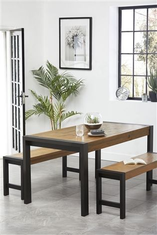 Awe Inspiring Hudson Dining Table And Bench Set Next Home Home Gmtry Best Dining Table And Chair Ideas Images Gmtryco