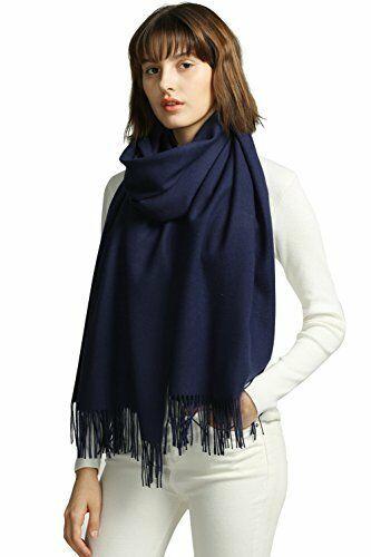 Ladies Scarf Wrap Pashmina Blue Check Colour Shawl Large Soft Feel