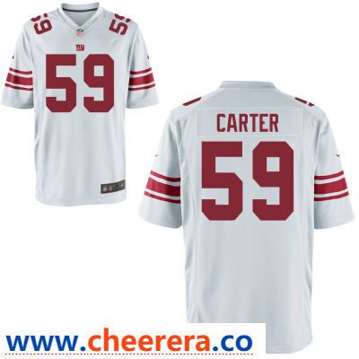 best loved 7d50e b029f Men's New York Giants #59 Lorenzo Carter White Road Stitched ...