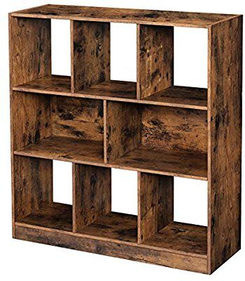 Amazon Com Vasagle Wooden Bookcase With Open Cubes And Shelves Free Standing Bookshelf Stor In 2020 Wooden Bookcase Wooden Storage Shelves Bookcase Storage