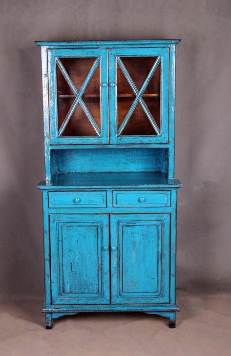 Sky blue antique finish