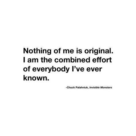 chuck palahniuk quote. found on Polyvore