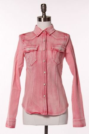 PinkChic Denim Shirt!