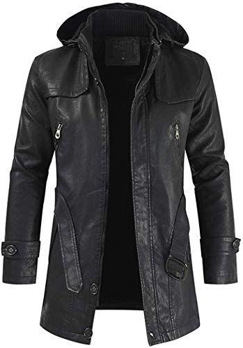 Qiangjinjiu Mens Thicken Winter Slim Fit Casual Parka Down Puffer Coats Jacket