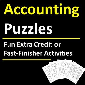 Accounting Puzzle Activities Accounting Classes Financial