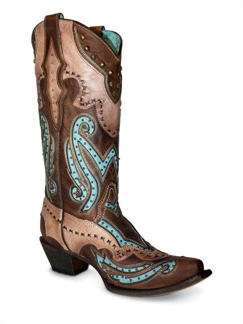 Corral Brown and Turquoise Inlay