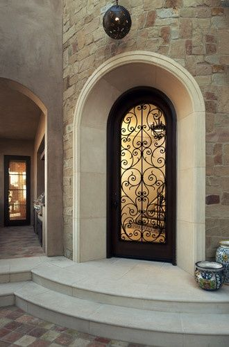 Image Result For Mediterranean Single Arched Entry Door Trim