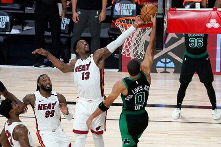 Bam Adebayo S Block Stops A Dunk And The Celtics In 2020 Heat Team Eastern Conference Finals Tatum