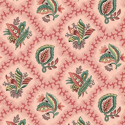 Rochester Fantasy Coral By Di Ford Hall Pink Light Khaki With