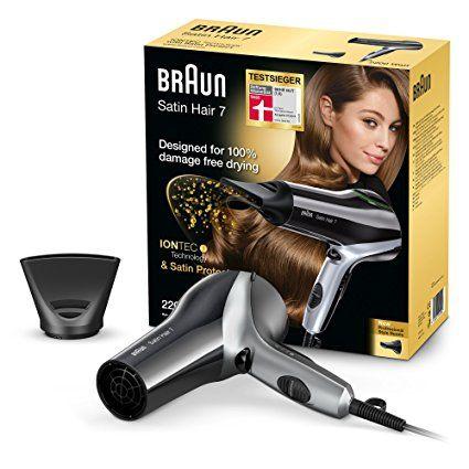 Braun Satin Hair 7 Haartrockner Hd 710 Mit Iontec Und Satin Protect Technologie 2200 Watt Braun Satin Hair 7 Braun Werden Haare Pflegen