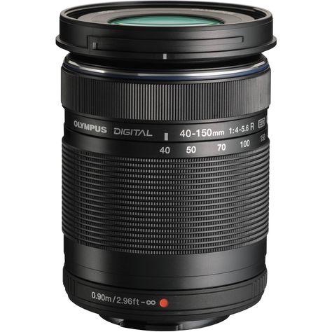 Olympus M Zuiko Digital Ed 40 150mm F 4 5 6 R Lens Black Olympus Camera Zoom Lens Olympus Camera Photography