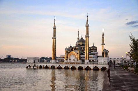 Les mosquées de Kuala Terengganu : Cristal Masjid #VisitMalaysia2014 #Malaysia #Terengganu #CristalMasjid
