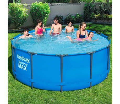 Bestway Steel Pro Max Swimmingpool 366 X 122 Cm Vidaxl De Swimmingpool Poolplane Poolleiter