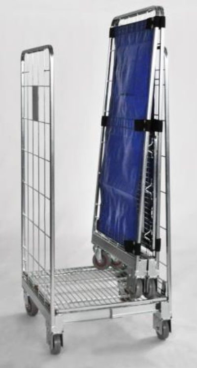 Foldable roll cage container 2 or 4 sides Logistic, storage
