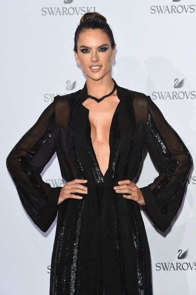 Alessandra Ambrosio attends the Swarovski Crystal Wonderland Party.