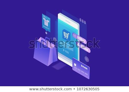 Concept Of Online Shop Online Shopping Isometric Image Of Phone