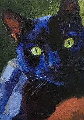 blackcat22 by Katya Minkina Oil ~ 7 x 5