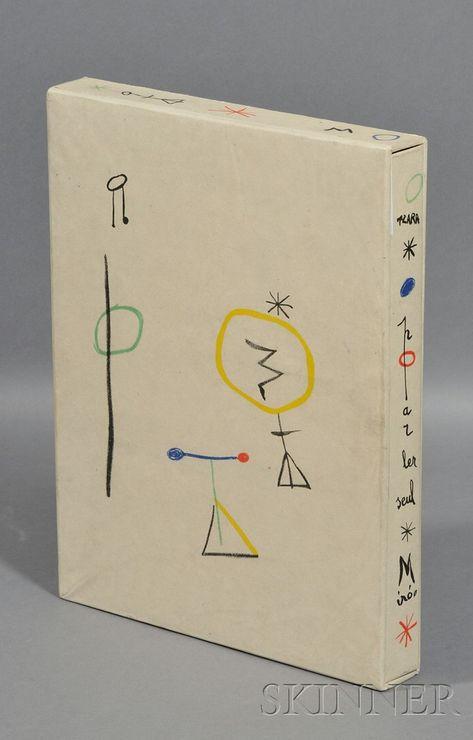 Joan Miró, Parler Seul, text by Tristan Tzara Book Cover Art, Book Cover Design, Book Design, Book Art, Design Art, Print Design, Book Binding Design, Text Design, Poster Layout