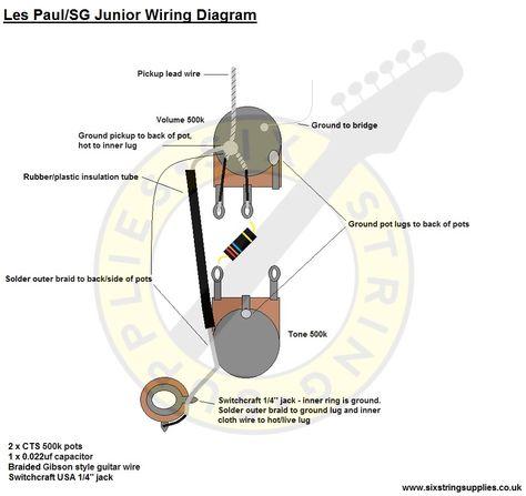 Les Paul Junior Wiring Med Bilder