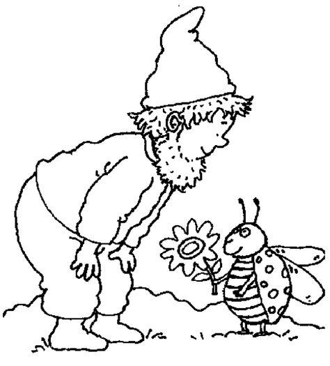 gnome boy meets ladybug  coloring pages  kleurplaten