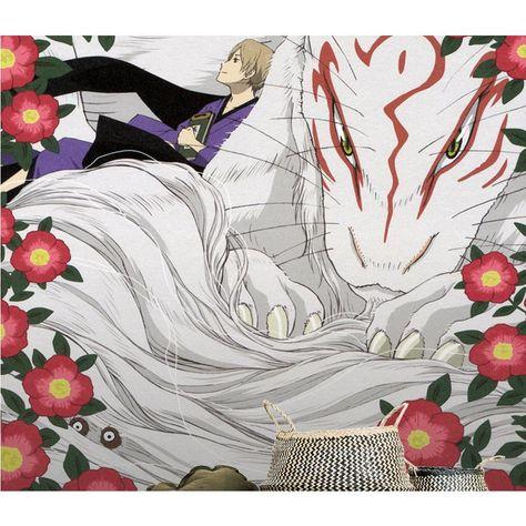 3D Wallpaper Natsume White Fox 73 Anime Wall Murals Wallpaper Mural Wall Mural Wall Murals Removable Wallpaper