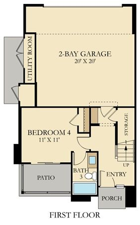 Residence 3 New Home Plan In Millenia Boulevard By Lennar New House Plans Home Design Floor Plans New Homes